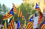 Protestors backing Catalan independence during a demonstration on 11 September 2012: The status of the region has emerged as an increasingly contentious issue in the past few years