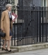 On her way out: Prime Minister Theresa May