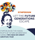 Stylised picture of Hugo Grotius with the text: Symposium: Let the future generations escape. Symposium on the human rights of future generations during the Hugo de Groot (Grotius) year