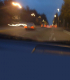 Vague view of traffic on road through windshield