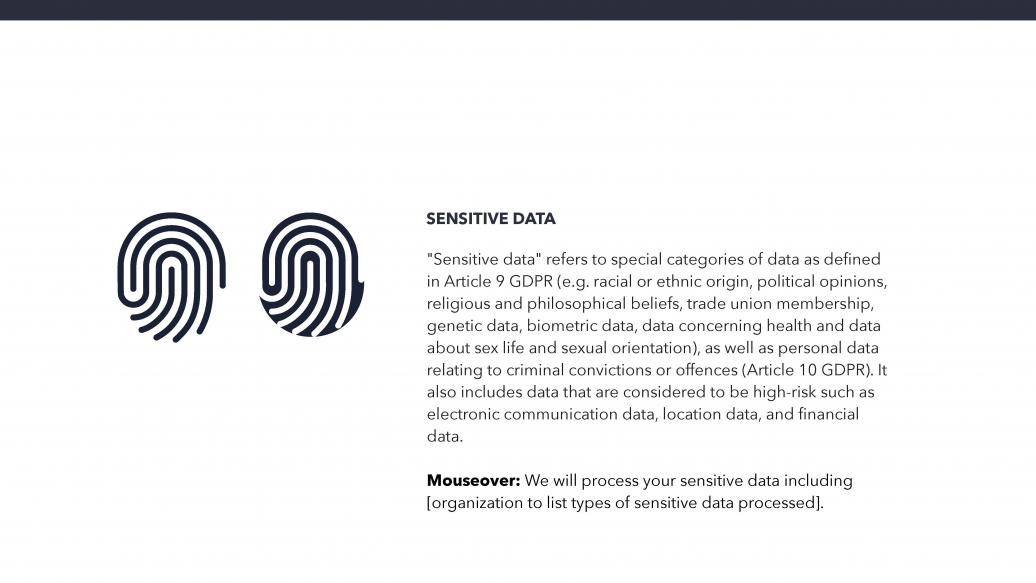 Sensitive data icon
