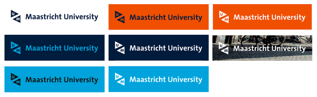 UM logo digital colour combinations