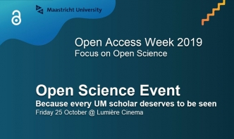 UM Open Science Event 2019