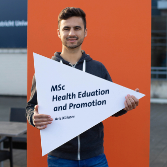 Aris, student ambassador for the master's in Health Education and Promotion at Maastricht University