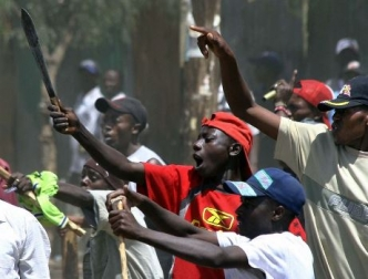 Photo of a protest in Kenya