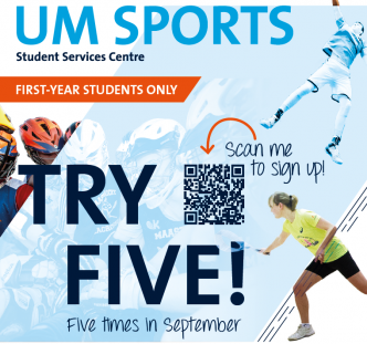 UM Sports image Try Five event 2020
