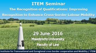 ITEM Seminar: Recognition of Qualifications