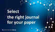 Select the right journal for your paper