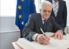 Italian President Sergio Mattarella at the European Parliament